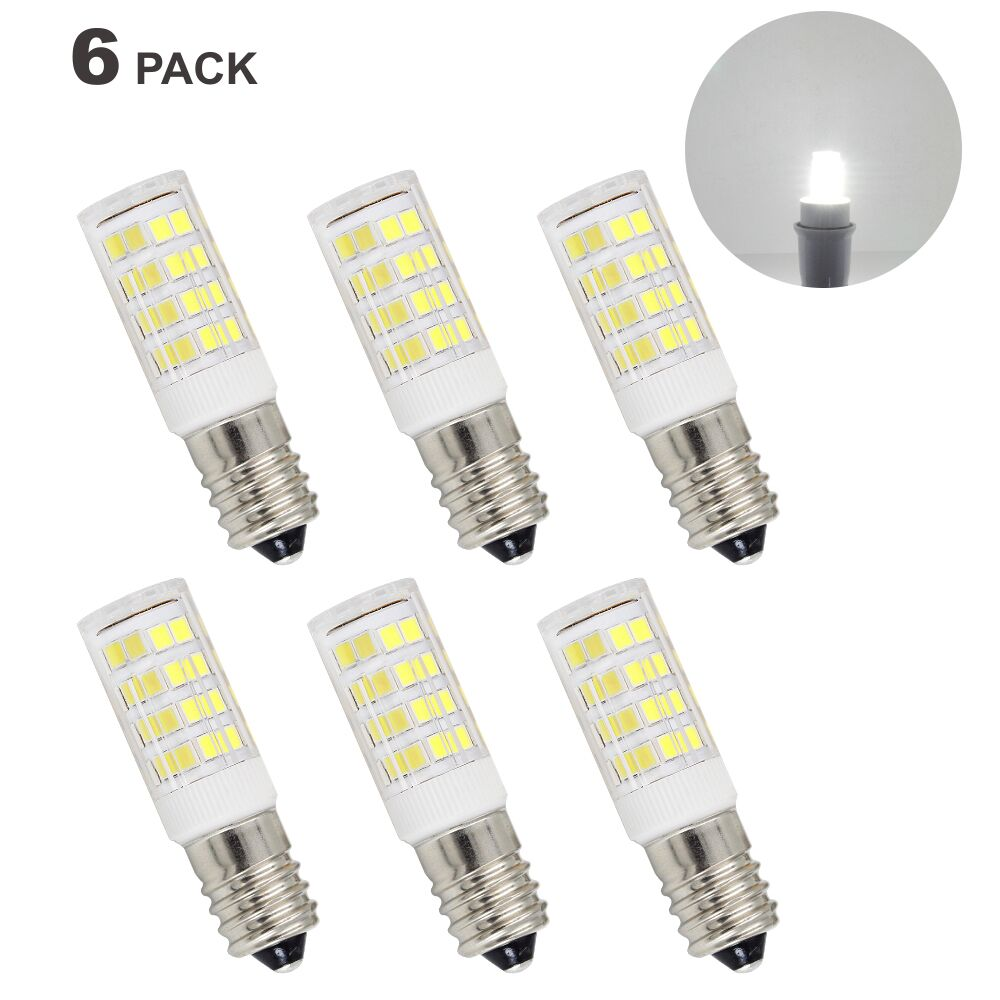 E14 Small Screw LED Capsule Corn Light Bulbs 5W 400Lm Cool White 6000K AC220-240V Candle Light Bulbs for Mirror Lamps