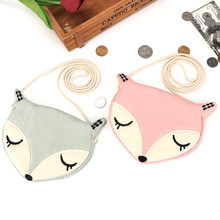 Lovely Fox Children One Shoulder Bag Coin Purse Cute Girls Messenger Bag Baby Accessories an Ideal Gift for Children Day(China)