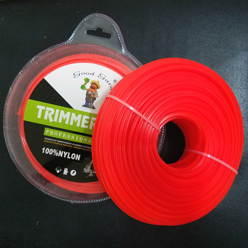 2.4mm/3mm 1LB Mowing Nylon Rope Line Strimmer Brushcutter Trimmer Long Round Roll Square Grass Trimmer Head Nylon line 55M/65M grass trimmer line 3 0mm diameter 500g round for brush cutter power nylon line grass cutting