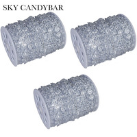 SKY CANDYBAR 3 lots 99FT/30 M Guirlande Clear Diamond Strengen Acryl Crystal Bead bedankje Decoratie raam deur gordijn
