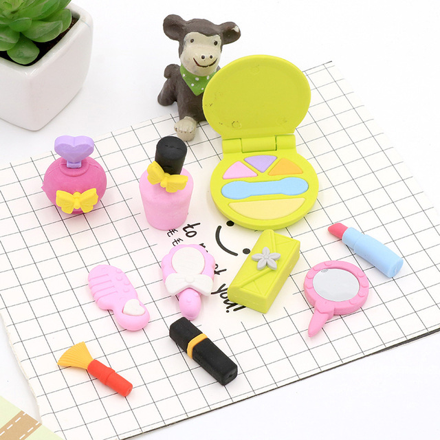 Women S Cosmetics Series Eraser Kawaii School Office Supplies Papelaria Child Learning Stationery Materiale Scolastico