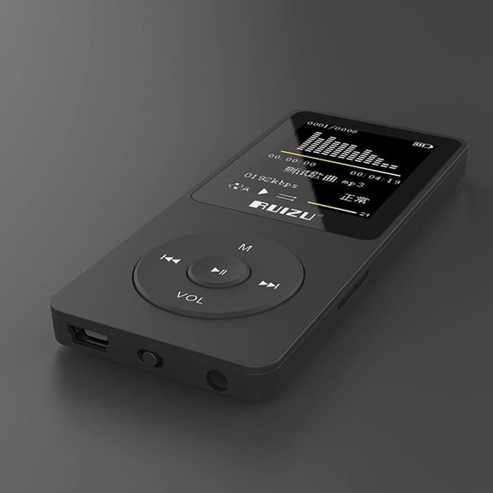 MüHsam 2018 100% Original Version Ultradünne Mp3 Musik-player Mit 4 Gb Speicher Und 1,8 Zoll Bildschirm Kann Spielen 80 Stunden Tragbares Audio & Video Original Ruizu X02