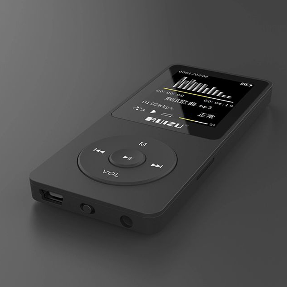 2018 100% Original Version Ultrathin MP3 Music Player with 4GB Storage and 1.8 Inch Screen Can Play 80hours, Original RUIZU X02 original ruizu x02 mp3 8gb untrathin protable mp3 player 80hours play music player with 1 8inch screen fm e book clock recorder
