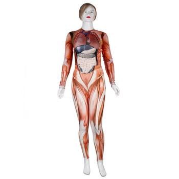 PLstar Cosmos New Women/girl Human body structure muscle Cosplay apparel Zentai Bodysuit Suit Jumpsuits 4