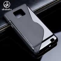 AKABEILA funda de silicona para Samsung Galaxy SII I9100 S2 GT-I9100/A7 2015 A700/A8 A800 A800F/ e5 E500 SM-E500F cubierta de la Caja