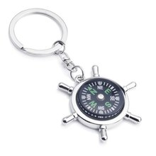 Outdoor Survival Key Ring Compass Mini Pocket Brass Watch Style Ring KeyChain(China)
