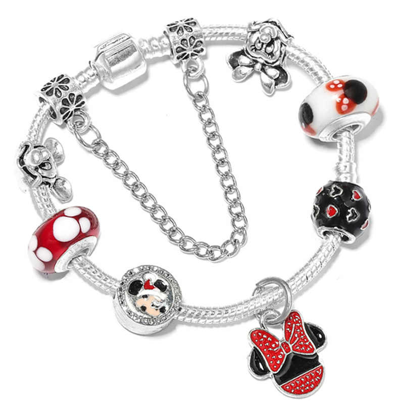 074955ccf ... CHIELOYS Cute Cartoon Charm Bracelets With Enamel Mice Beads Fits  European Original Pandora Bracelet For Children ...