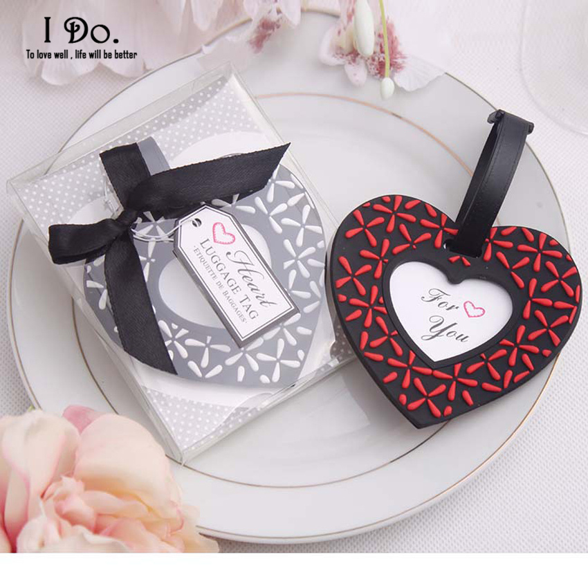 Free Shipping Heart Shaped Luggage Tag Wedding Favors And Gifts Wedding Supplies Wedding Souvenirs Wedding Gifts For Guests
