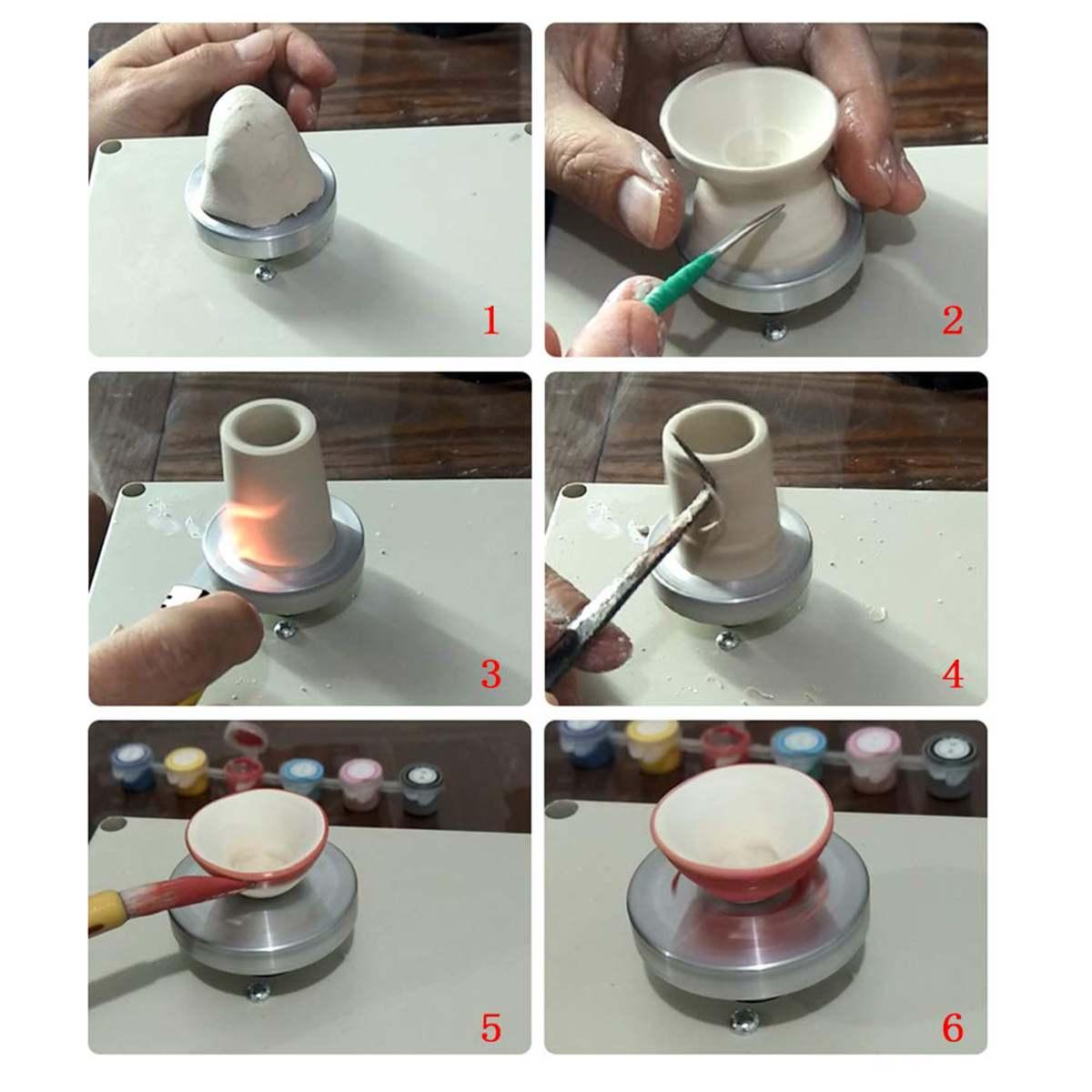 Mini argile faisant la poterie USB Machine pistolet à Air chaud pour bricolage en céramique artisanat Art outil - 6