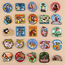 DOUBLEHEE30 Many Animal Stick On Embroidered Patch No Iron Sew Patches Embroidery For DIY Bag Shoes Phone Do Not Wash
