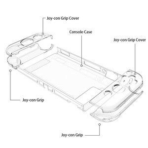Image 5 - Dla Nintendo Switch przezroczysta kryształowa pokrywa Ultra cienka, odporna na wstrząsy konsola ochronna Coque odpinane twarde ochronne z poliwęglanu