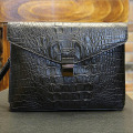Fashion Black Alligator Leather Man Clutch Bag Male Envelop Business Bags Clutch Handbags For Party Hot Sale