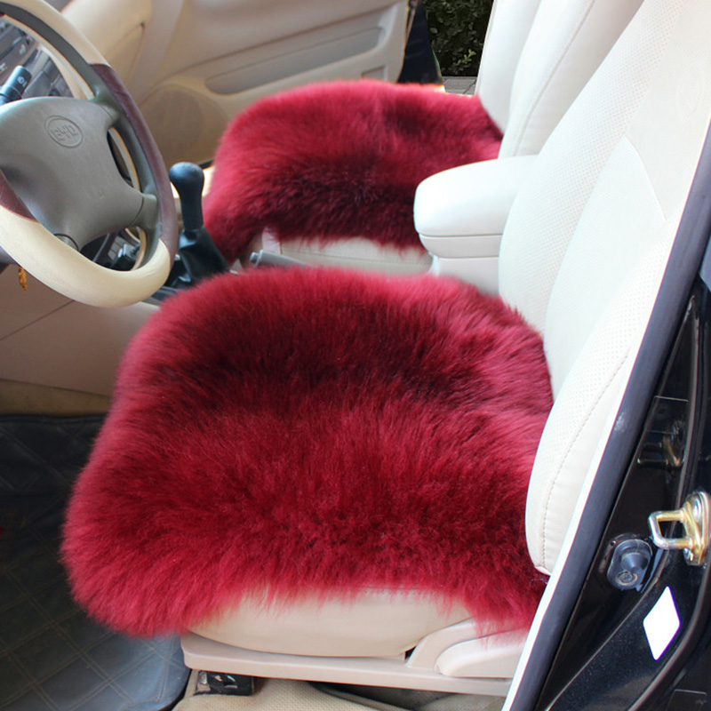 2016 new winter pluch car cover seat cushion one front seat covers faux fur cute car interior. Black Bedroom Furniture Sets. Home Design Ideas