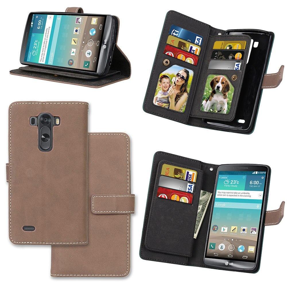 Fundas para teléfonos móviles Cartera Funda de cuero con tapa para - Accesorios y repuestos para celulares