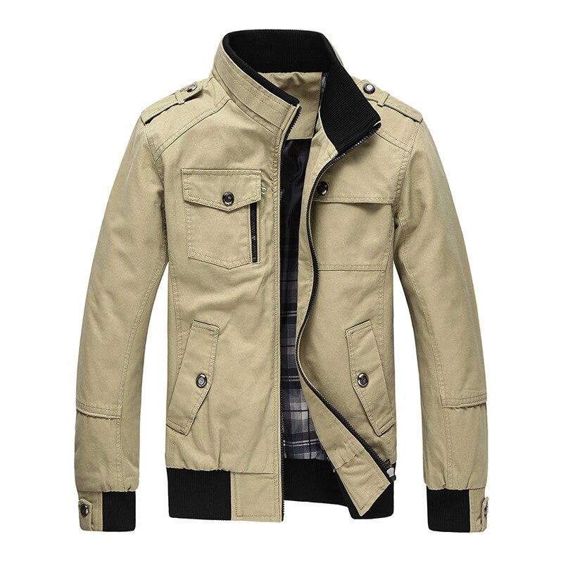 2017 Herbst Frühling Jacke Männer Casual Mäntel Mittleren Alters Bequeme Jacken Für Männliche Oberbekleidung Plus Größe M-4xl Geschickte Herstellung