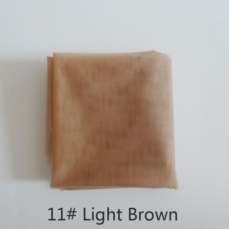 1 yard light brown swiss lace for wig making and wig caps lace wigs material or lace closure, 6 color available high quality heavy density lace wig 180