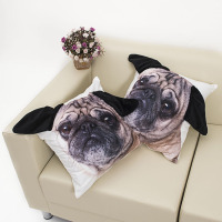 1 Pc Cute Short Plush 3D Lifelike Dog Cat Cushion With Inner Home Decor Sofa Car