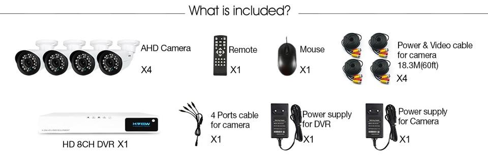 CCTV Security Camera System 8410X5AMC4(3)