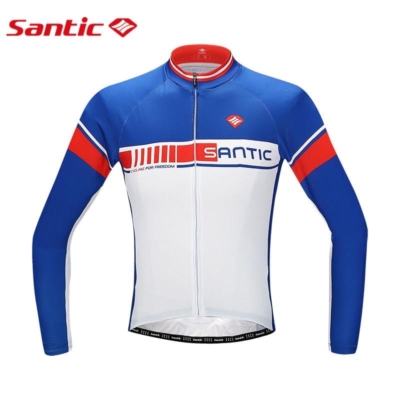 Santic Cycling Jersey Long Sleeve Men Bike Jersey Breathable Anti-sweat Mtb Bicycel Jersey Cycling Clothing S-3XL  santic cycling men s downhill ridet shirt long jersey long sleeve white