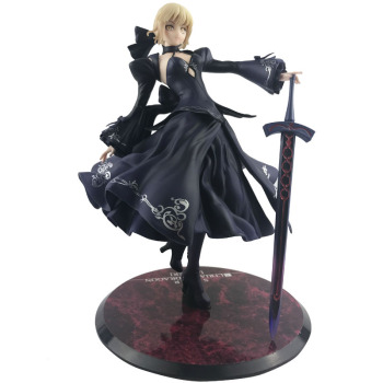 26cm Fate Zero Fate Stay Night Black Saber Action Figure Collection Toys Christmas Gift Japanese Anime Figures