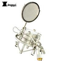 Suporte do microfone aranha de montagem em choque mic isolamento escudo pára brisas pop filtro para sansão c01u pro c03u c01 co3 mtr231 mtr101|Pedestal microfone| |  -