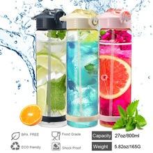 800ML Sports Water Bottle Portable Straw Type Portabl  Multifunctional