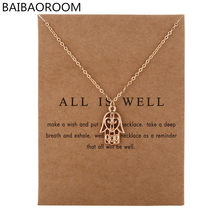 New Arrived Fashion Jewelry Silver Color All Is Well Hamsa Fatima Hand Chocker Necklace Pendant For Women Girl(China)