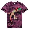 Hot nuevos hombres de la moda de manga corta camiseta del o-cuello lagarto agua 3d camisetas impresas sprots casual hip hop hombre clothing