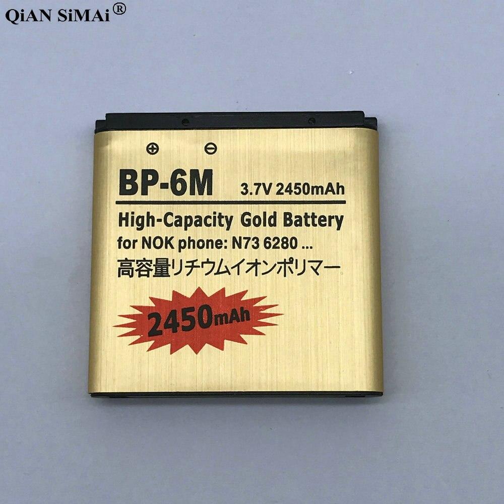 Новый <font><b>BP</b></font>&#8211;<font><b>6M</b></font> золото Батарея для <font><b>Nokia</b></font> N73 N77 N93 N93S 3250 6151 6233 6234 6280 6288 6290 9300I 9300 BP6M ВР 6 м
