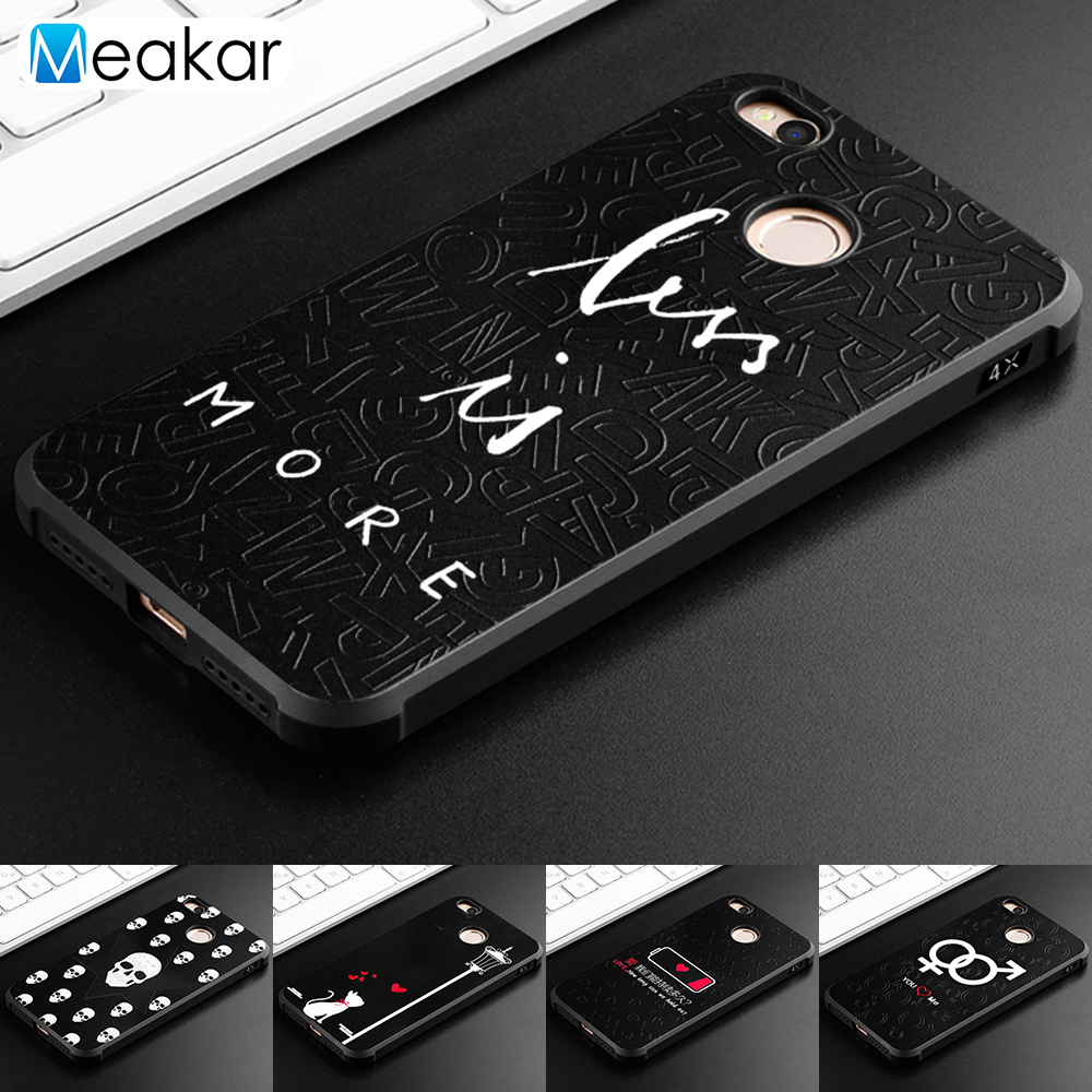 Embossed Painted Shell 5 0For Xiaomi Redmi 4X Case For Xiaomi Redmi 4X Cell Phone Back