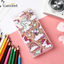 Vanveet Soft Cases For Huawei p8 p9 p10 lite Case Unicorn mini Glitter Cover Dynamic Liquid Fundas Silicon
