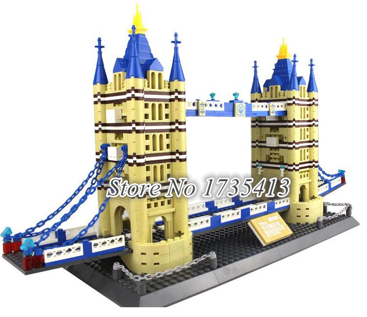 Aiboully 2017 new 1033pcs 8013 new famous architecture for Architecte tower bridge