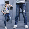 Boys Jeans Kids 2016 Children Skinny Cartoon Blue Jeans Boys Cotton Jeans For Kids