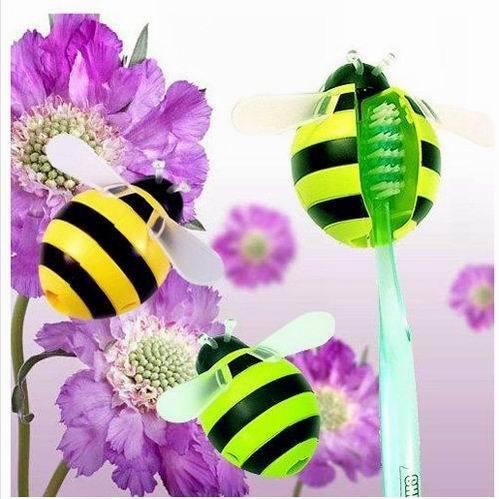 1 개 새로운 Nolvelty 꿀벌 만화 모양의 휴대용 자동 칫솔 홀더