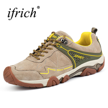 Ifrich 2017 Outdoor Shoes Men Hiking Boots Spring/Summer Mountain Walking Sneakers Leather Trekking Shoes Brand Trekking Boots