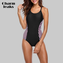 Charmleaks One Piece Women Sports Swimwear Sports Swimsuit Beach Bathing Suit Bikini Monokini