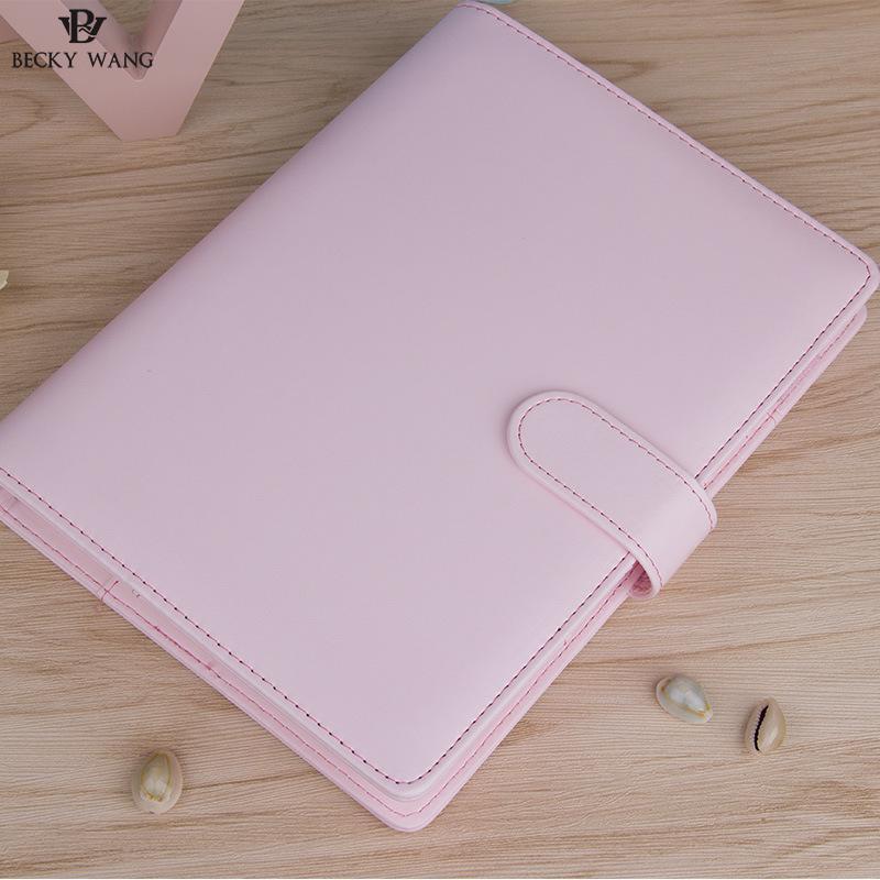 Cute Macaron Planner Binder Μόνο A5 A6 Μπλε ροζ Lilac - Σημειωματάρια - Φωτογραφία 5