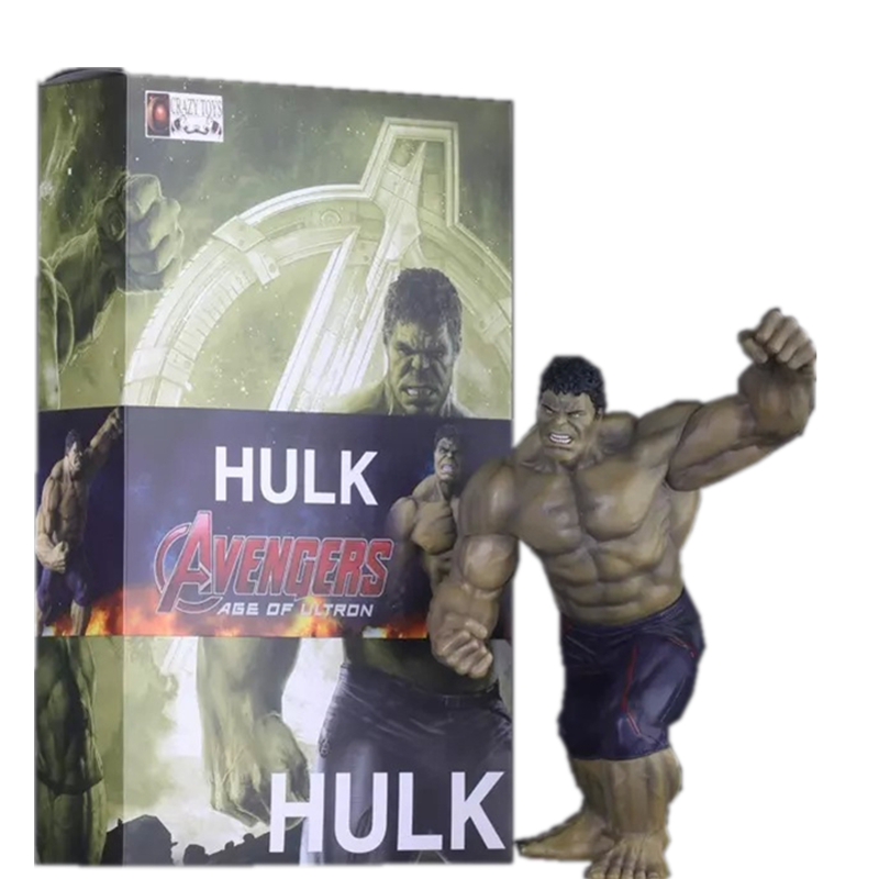 SAINTGI  HULK Avengers II Action Figures Hot Toys Super Hero Marvel's PVC 30cm Model Gifts Mjolnir The Incredible Hulk Anime high quality hulk figures the avengers super hero pvc model hulk action figures children kids best gift