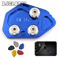 BJGLOBAL For BMW K1300S K1300R K1200S K1200R CNC Kickstand Sidestand Side Stand Enlarger Plate Pad