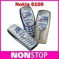 ¡ CALIENTE! 6100 original reformado desbloqueado nokia 6100 2g gsm teléfono móvil celular envío gratis