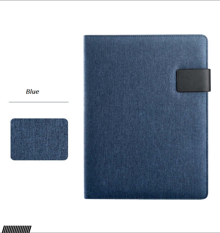 A4 Multifunction Files Folder Business Padfolio Conference Folder Linen Type Cloth Large Notepad Planner Gift