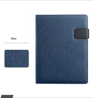 A4 Multifunction Files Folder, Business Padfolio Conference Folder Linen Type Cloth Large Notepad Planner Gift
