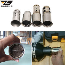 ZS Racing Motorcycle Exhaust Pipe Silencer DB Killer Motorbike Exhaust Muffler Silencer Noise Sound Eliminator 51mm Diameter(China)