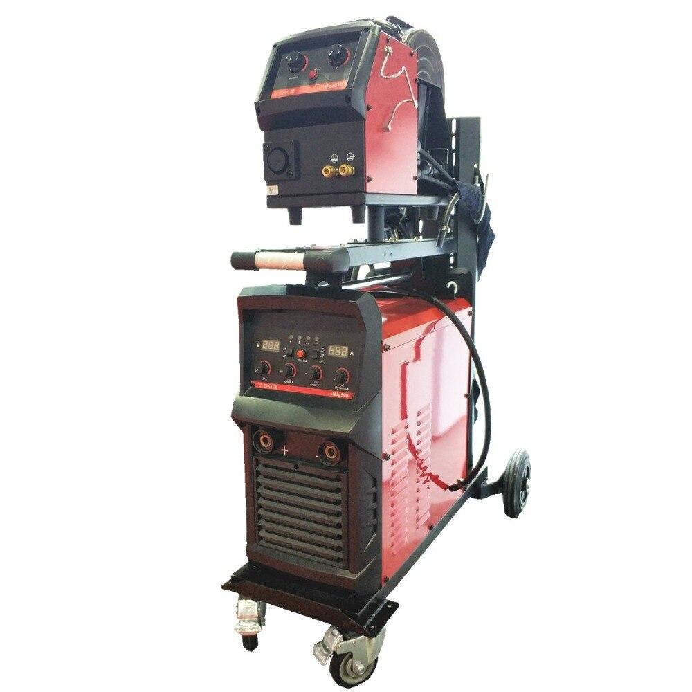 Équipement de soudage industriel 500A MIG multi-processus IGBT 4 rouleau chargeur de fil à distance chariot à souder MIG MAG TIG MMA