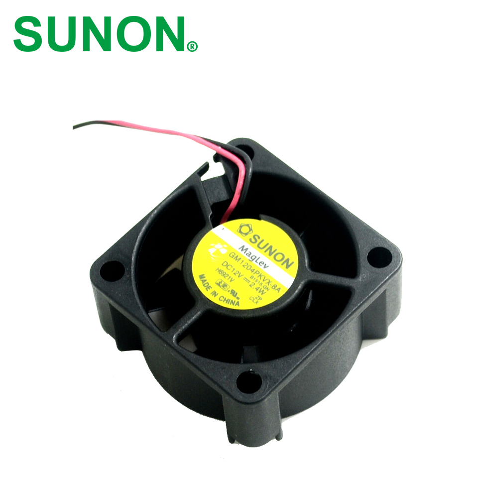SUNON  DHL Free shipping  4020 GM1204PKVX-8A 4CM 12V 2.4W 2Wire Server Cooling Fan free shipping for sunon psd1206pwb1 a 2 b2443 f gn dc 12v 2 5a 8 wire 12 pin 100mm 60x60x60mm server square cooling fan