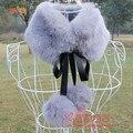 Autumn and winter women's Faux fox fur cape collar female faux hair ball sphere scarf muffler scarf false collar