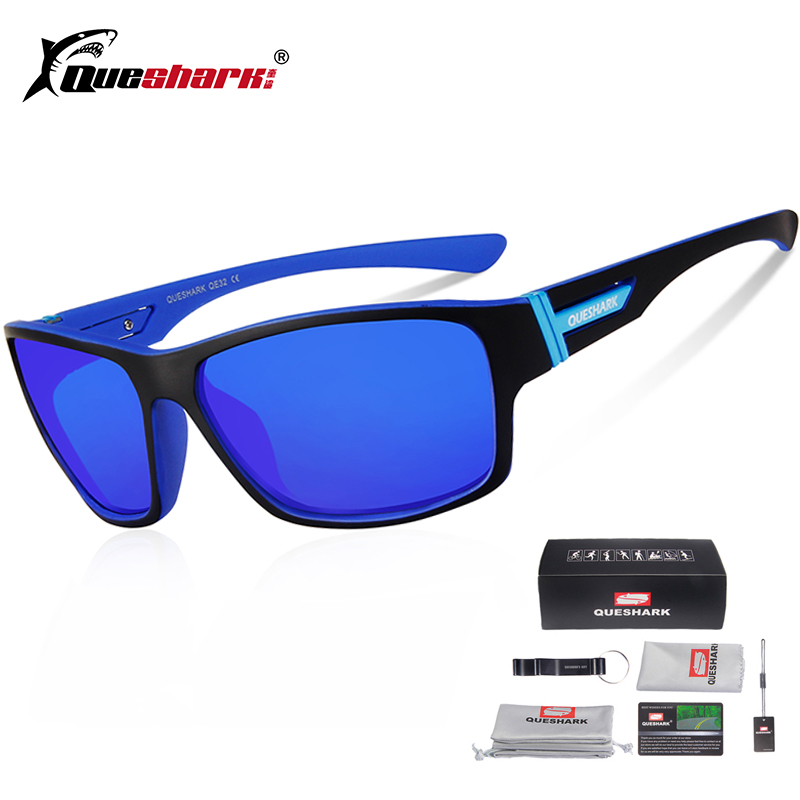 Queshark Polarized Sports Glasses Cycling Sunglasses Bicycle Goggles Bike Sunglasses Riding Fishing Cycling Eyewear