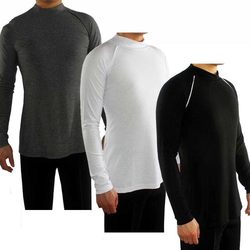 Latin Dance Shirts Clothes For Salsa Ballroom Shirt Men Dance Top Latin Dance Wear Tops Slim Flamenco Dancing Costumes DN1318