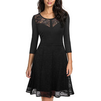 Lace Sexy Women Dress Elegant Casual Party Sex Dresses Novelty Hollow Out Femme Club Bodycon Laces Vintage Costume Lady Dress