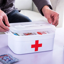 Home Double-layer Medical Kit First-aid Storage and Health Care Medicine Box Car Management